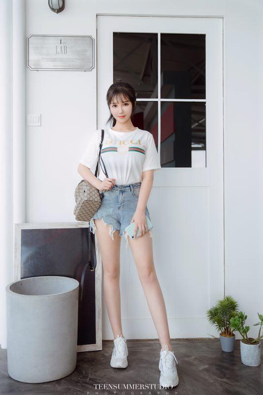 广州白小纯170E筷子腿甜美系-1